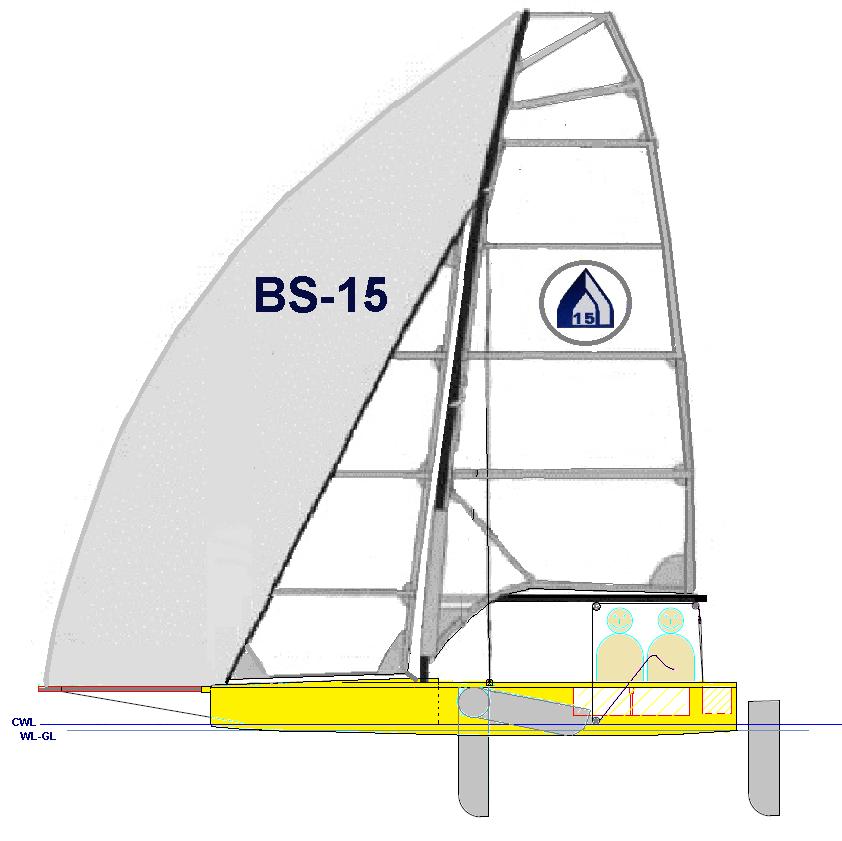 Seitenansicht Brainstorm Sailing BS-15